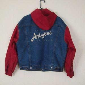 Vintage Arizona Embroidered Denim and Nylon Jacket